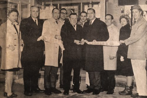 Grand Opening photo of our first Dunkin' location in 1968